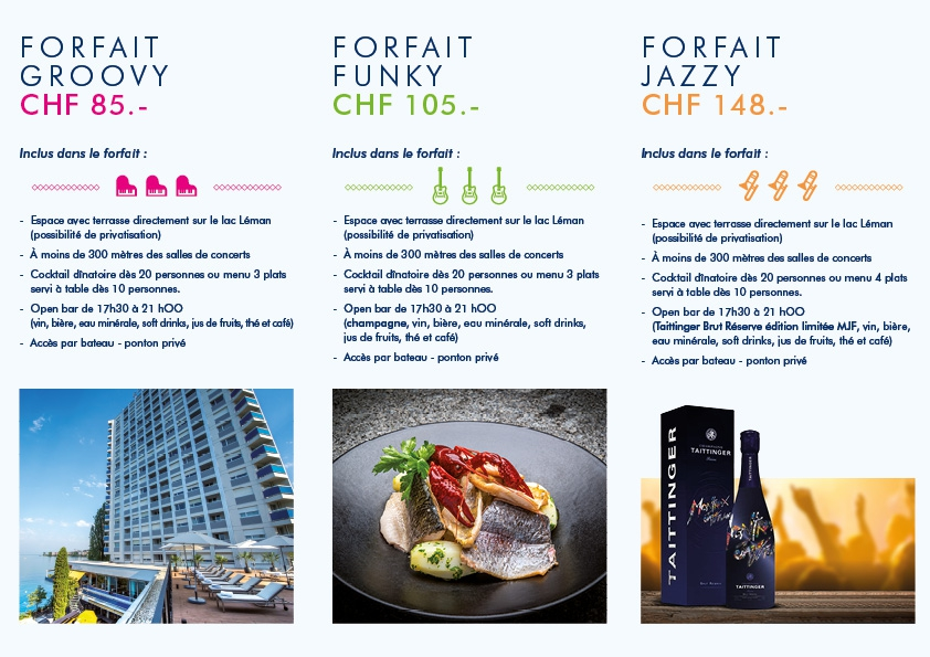 Make swing your taste buds! MONTREUX JAZZ FESTIVAL PACKAGES